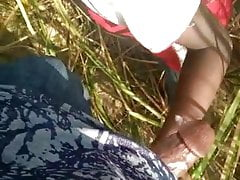 Desi boy Sucking outdoor