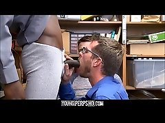 Shoplifting Twink And His Dad Fucked By Black Security Officer