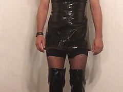 Sissy sucks cock for Mistress X