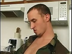 Muscular military studs suck dick and anally drill each other