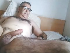 Hairy spanish daddy strokes on cam
