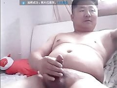 Cute Chinese daddy cums
