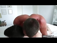 Two hunks fuck each other and have a great time