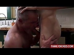 Eeeew! Father Dale Savage shows his love to his son Bar Addison in a very special way! That is by fucking his sons tight asshole!