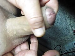 65yrold Grandpa &85 foreskin small cock close uncut wank old
