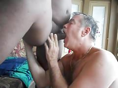 Big black cock gets some gourmet head