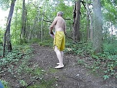 Mike Muters Strips outside on the trail