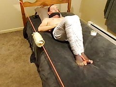 Encasement with feet ready for torture