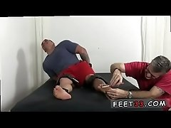 Free gay twinks feet first time Tough Wrestler Karl Tickled