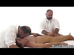 Mormon twink creampied by horny elder after erotic massage