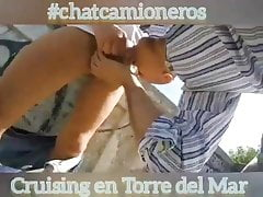 Sex with #chatcamioneros truckers at Torre del Mar spot