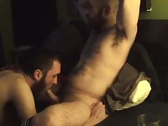 Chill-out BJ - Skilled Bearded Sucks Bald Bearded Hairy Dad
