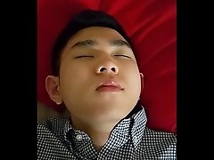 Taiwanese guy sleeping with a hard on - WoA Jay 3