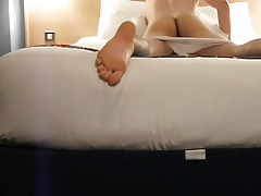 Hotel bed pillow hump
