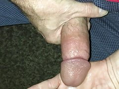 Cant hold it in any more cum in hand