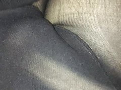 Play with a pantyhose cock