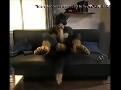 Furry Self-suck With Explosive Cumming
