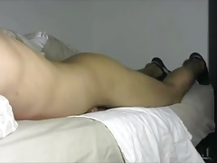 Bed humping thick cum