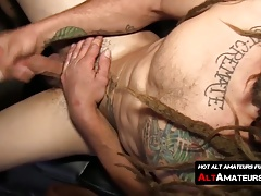 Naughty skater twink with dreads masturbates his pecker
