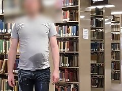 Peed my Jeans at the Library (Very public!)